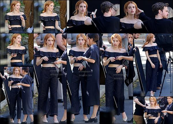 08/03/17 : E. Roberts a été aperçue sur le set d'un tout nouveau photoshoot, dans les rues de Los Angeles. Je ne sais pas pour vous, mais j'adore la tenue qu'elle porte ! J'ai hâte de voir le rendu. Et j'adore les têtes qu'elle fait sur les photos.[/font=Arial]