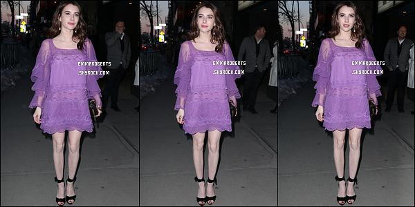 """22/03/17 : La ravissante Emma s'est rendue à l'avant-première de son film """"The Blackcoat's Daughter"""", à NY. Quelques unes de ses co-stars étaient également présentes. Concernant sa tenue, j'aime beaucoup, et la couleur va bien à son teint ![/font=Arial]"""