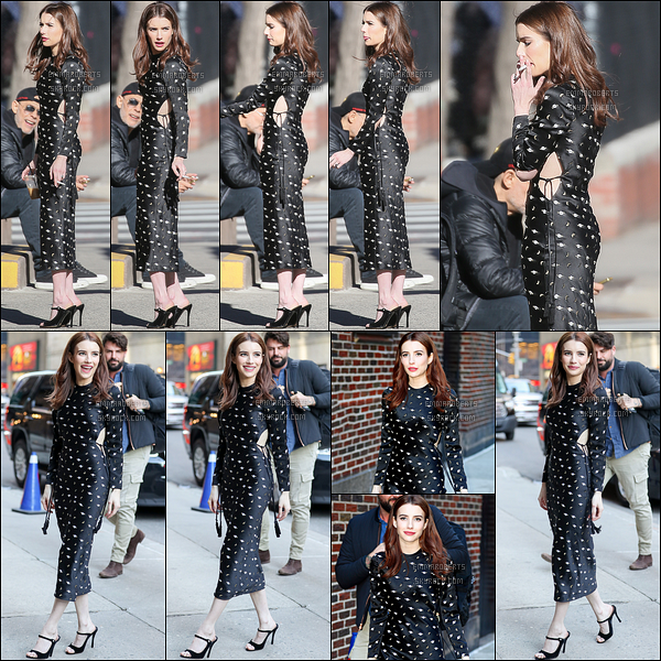 29/03/17 : Miss Roberts a été vue par les paparazzis en train de fumer une ciagrette, dans les rues de NY. Puis, elle a été aperçue en train de se rendre au The Late Show with Stephen Colbert afin de continuer la promotion de son film.[/font=Arial]