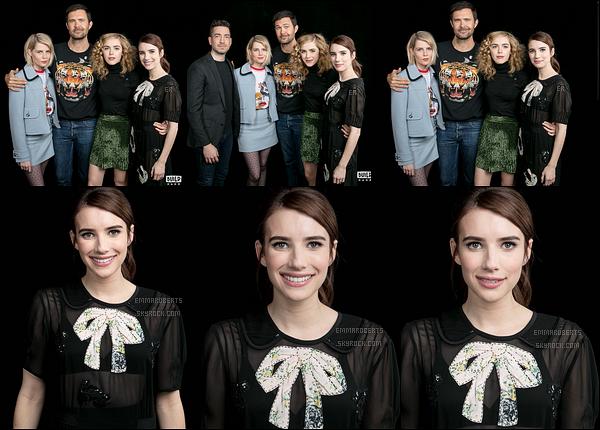 . Découvrez quelques clichés d'Emma et ses co-stars dans les studios d'« AOL Build ». .