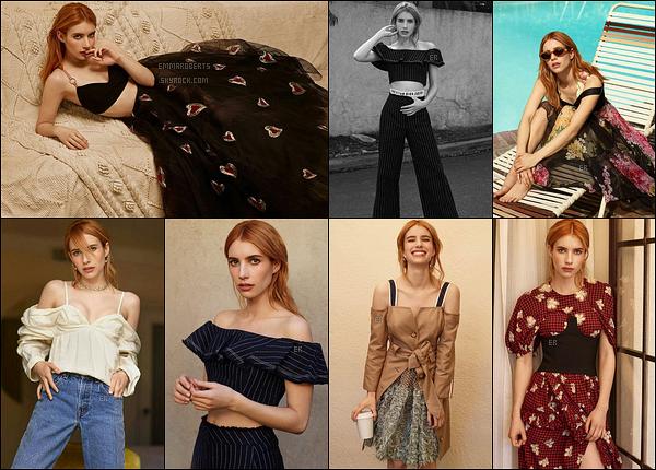 Voici des clichés pour le numéro spécial printemps du magazine Who What Wear. Souvenez-vous, il y a quelques semaines Emma avait été aperçue sur le tournage. En tout cas, j'adore les tenues qu'elle porte ! Ca fait très été.