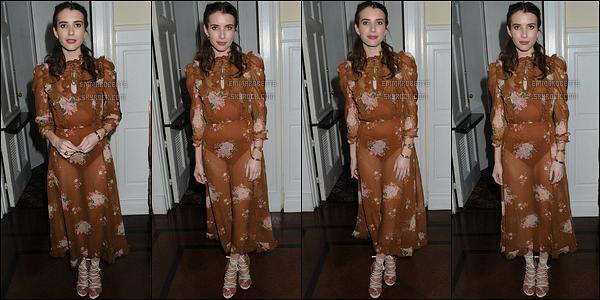 24/04/17 : Emma posait sur le red-carpet des 39th Annual American Image Awards sur 583 Park Avenue. Tout d'abord, j'adore la coiffure qu'elle arbore ainsi que son maquillage. Cependant, je suis d'avis mitigée pour la robe ! Et vous ?[/font=Arial]