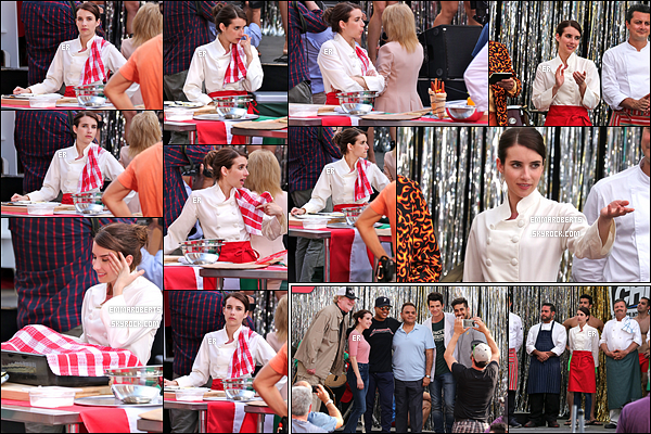 15/06/17 : C'est sans surprise qu'Emma a été aperçue sur le tournage de son film, Little Italy, dans - Toronto. Elle tournait une scène lors d'un concours de pizzas. J'ai toujours aussi hâte de voir ce film et j'espère qu'on aura d'autres nouvelles.[/font=Arial]