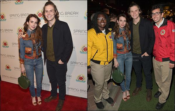 06/05/17 : Emma et Evan se sont rendus à un événement organisé par City Year dans la ville de Los Angeles. Cette organisation a été crée afin d'améliorer l'éducation des jeunes. Quelle très belle organisation ! De plus, un top pour la tenue d'Em.[/font=Arial]