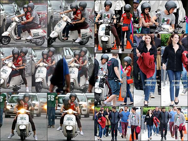 30/05/17 : L'actrice a été aperçue sur le tournage de son prochain film, Little Italy, qui se déroule à Toronto. C'est sur un scooter, en compagnie d'Hayden Christensen qu'elle a été photographiée. J'adore les clichés, et j'ai hâte de voir le film ![/font=Arial]