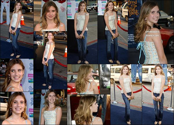 31/05/2005 : Emma Roberts s'est rendue à la première du film 4 filles et un jean qui s'est tenue à Los Angeles.