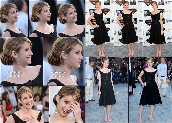 21/06/2006 : Emma Roberts s'est rendue à la première du film Superman Returns qui s'est tenue à Los Angeles.