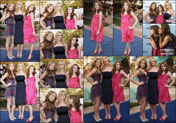 26/02/2006 : Emma, JoJo et Sara se sont rendues à la première de leur film, Aquamarine, dans Los Angeles.