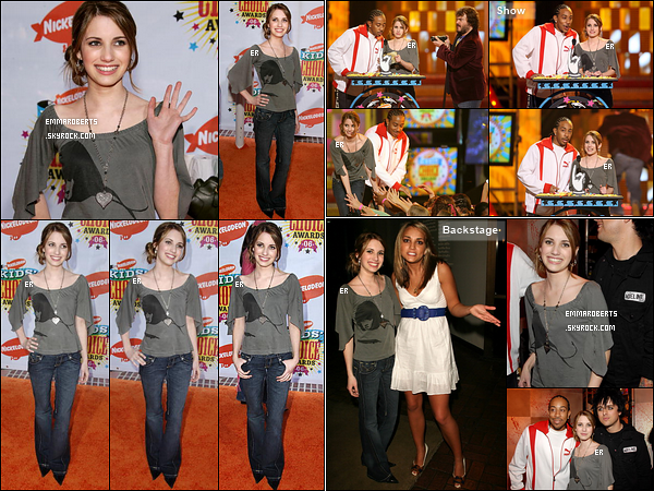 01/04/2006 : Emma s'est rendue à la 19ème cérémonie des Kid's Choice Awards, où elle a remis un prix, à LA.