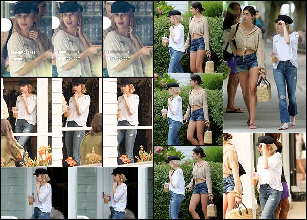 04/08/17 : Emma et Grace ont passé la journée à faire du shopping dans East Hampton, un quartier de New Y. Ca faisait longtemps que nous n'avions pas eu de sortie des deux soeurettes. Concernant la tenue d'Emma, j'adhère totalement. Top ![/font=Arial]