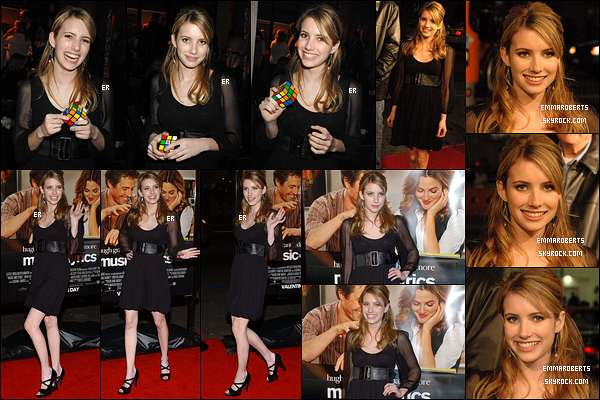 07/02/2007 : Emma s'est rendue à l'avant-première de la comédie romantique, Music and Lyrics, à Los Angeles.