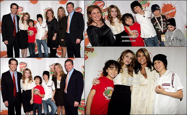 08/03/2007 : La jolie Emma Roberts s'est rendue aux Upfronts de la chaîne Nickelodeon, dans Los Angeles.