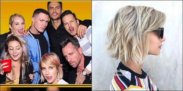 Le 23/09, Em s'est rendue à une fête organisée par Billie Lourd avec le cast d'AHS. Plus tôt dans la journée, la belle s'est rendue au salon Nine Zero One afin de peaufiner sa coupe de cheveux. Qu'en pensez-vous ? - Perso, j'adore !