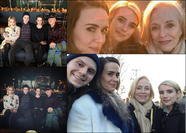 Emvan ont passé Thanksgiving avec Sarah, Holland Taylor & Ryan Murphy.