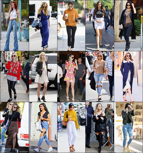 ✿ Selon vous, laquelle de ces 15  célébrités porte la plus belle tenue - automnale ?
