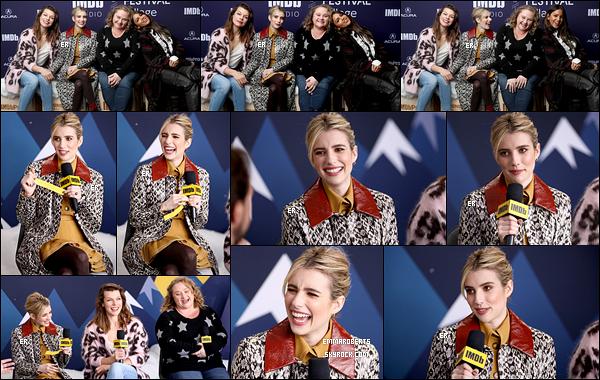 26/01/19 : Emma et ses co-stars du film Paradise Hills se sont rendues au Acura Festival Village de Park City. La promotion du film dans lequel Emma détient l'un des rôles principaux vient tout juste de commencer. Elle est sublime, c'est un top![/font=Arial]