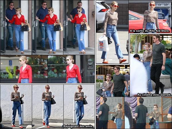07/07/19 : Très longue journée pour notre Emma qui s'est d'abord rendue au Stamp avec Garrett dans Los Feliz. Puis, elle est rentrée chez elle afin d'enfiler une tenue différente... J'aime bien les deux chemisiers qu'elle porte, ils lui vont bien ! - Avis ?[/font=Arial]
