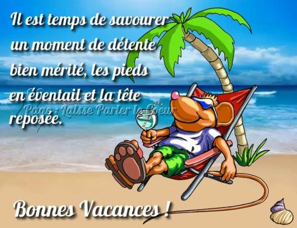BONNES VACANCES ^^ !!!