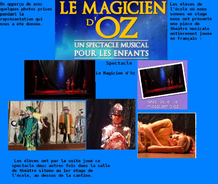 Spectacle : Le magicien d'oz Les Enfants