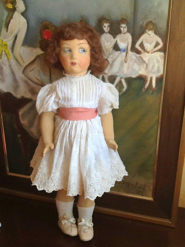 Encore une inconnue pour moi : Ancienne poupée en composition de 58 cm