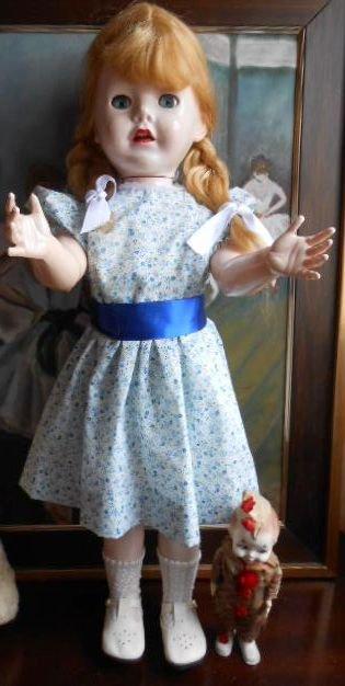 Ancienne poupée PEDIGREE BRIGHTON BELLE et ANCIEN JOUET MECANIQUE PEDIGREE