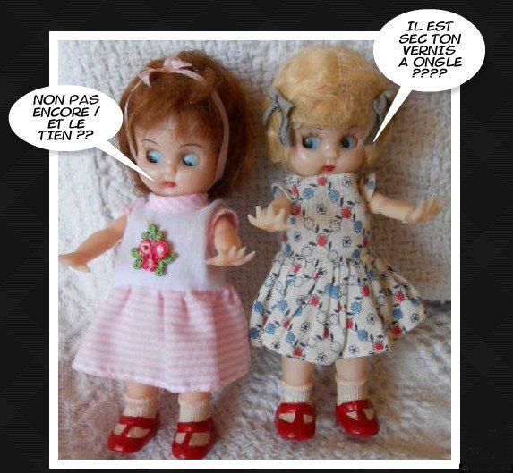 """Anciennes Petites poupées Anglaises 1950 """"CODEG DOLLS"""""""