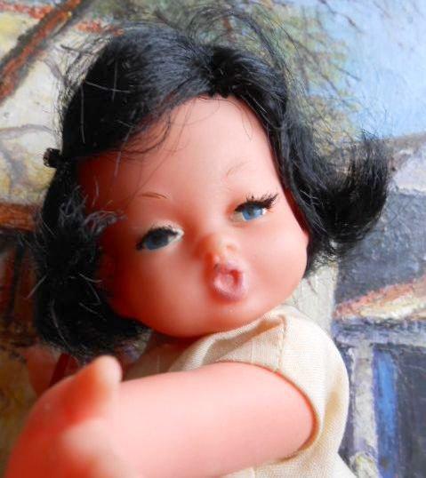 """Ancienne poupée italienne MIGLIORATI  des années 60 """"LA BIRICHINA"""" ."""