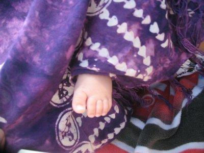 pied nouveau né