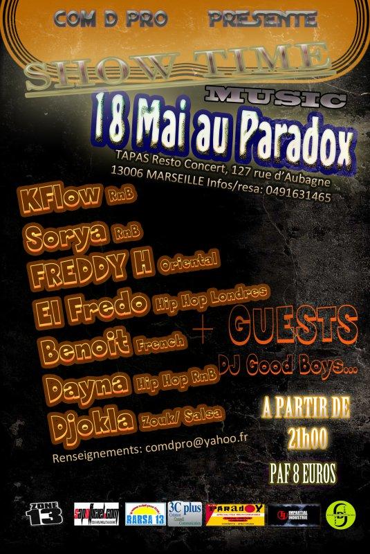 SHOW TIME COM D PRO :18 MAI 2011 AU PARADOX