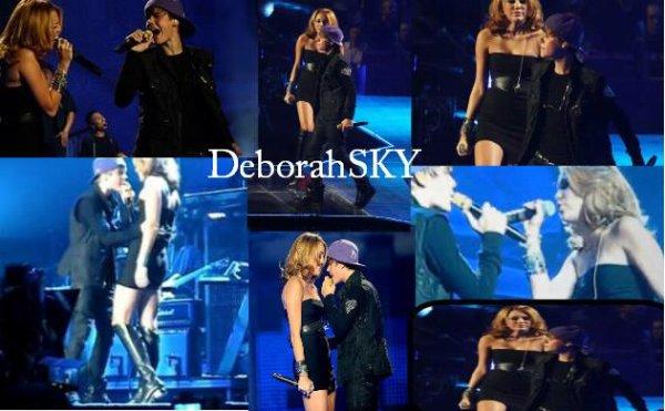 Mardi soir (31aout), lors de son concert au madison Square garde, Justin Bieber a été rejoint par de nombreux invités dont la belle Miley Cyrus. Ensemble, ils nous ont livré une version enflammée du titre Overboard.