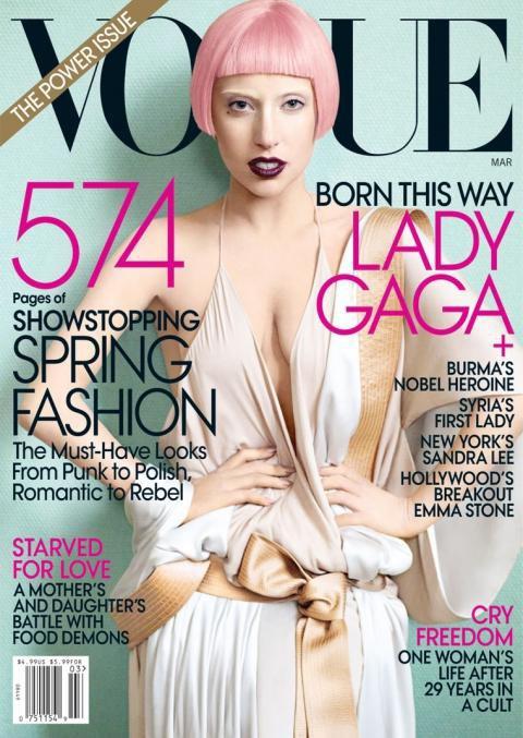 Vogue : Lady gaga en couverture de Vogue US, septembre 2012