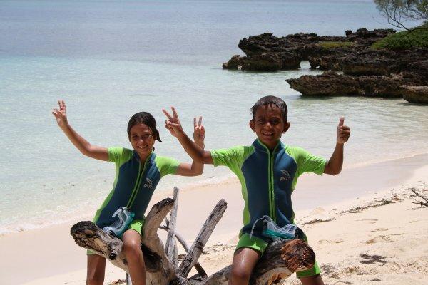 Mes enfants sur la plage