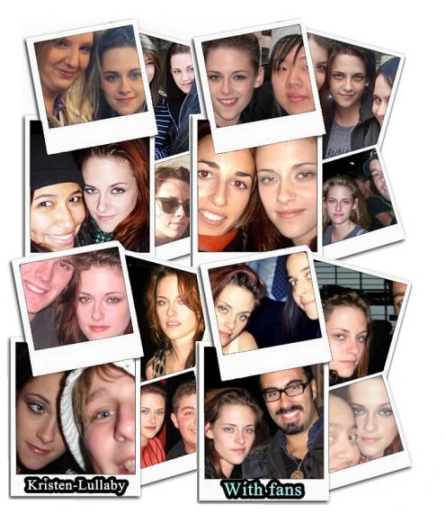 Comme vous le savez tous déjà, Kristen est une actrice au grand coeur ! Elle donne beaucoup à ses fans.J'ai voulu partager avec vous quelques photos prises avec ses fans et que je trouvais jolies ou drôles.