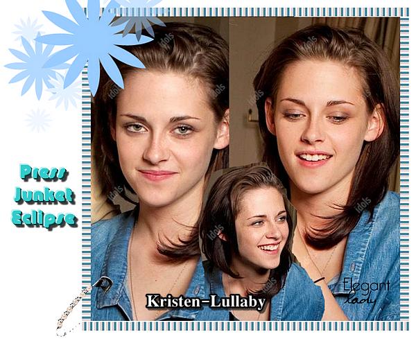 Kristen était présente en juillet 2010 à la Press Juncket d'Eclipse. Simples & naturelles voila comment définir ces photos...