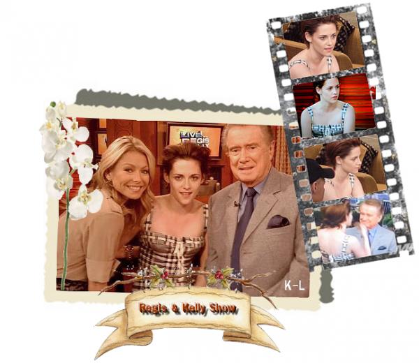 """19 Octobre 2010 :Kristen au """"Regis & Kelly Show"""""""