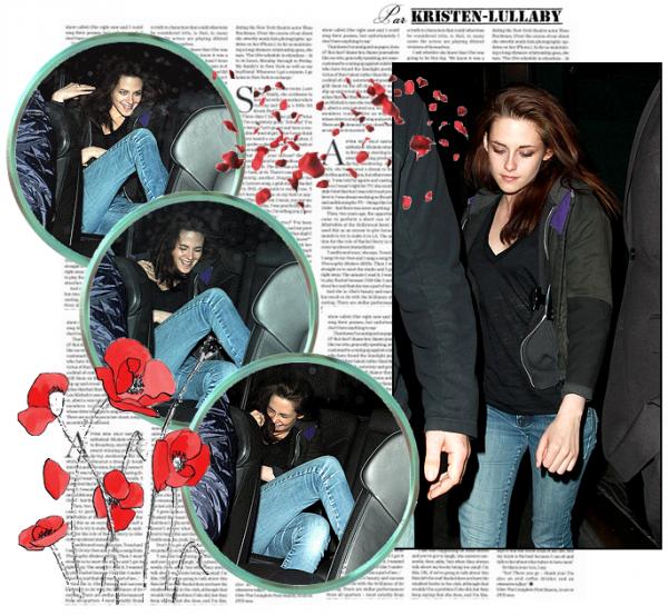 Mercredi 8 Juin 2011 : Kristen quittant le Groucho Club à Londres.