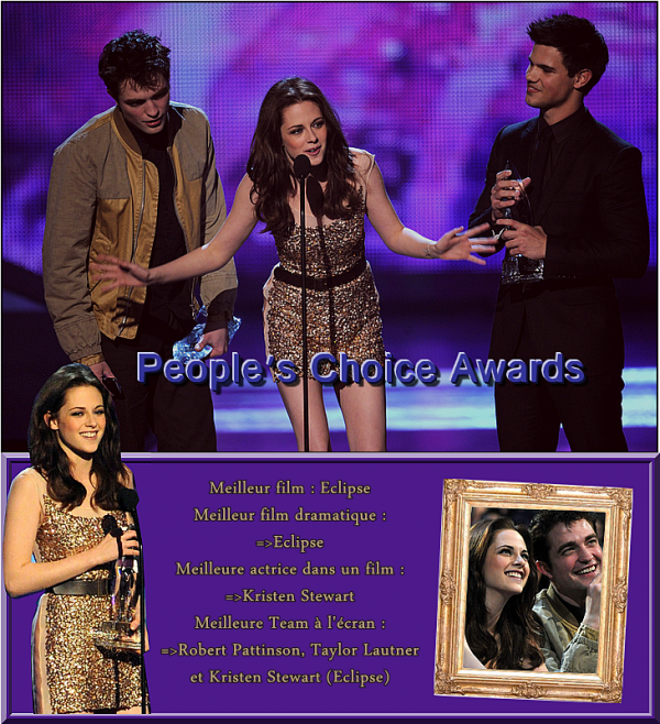 Mercredi 5 Janvier 2011 : People's Choice Awards .