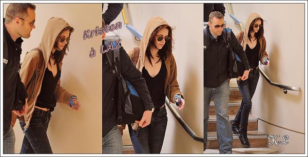 18 Février 2011 : Kristen repérée à Lax.