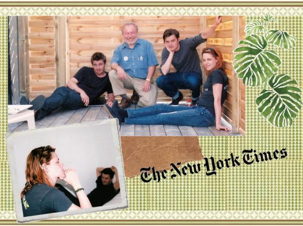 Un article sur On the road vient de paraitre dans le New York Times et avec ça nous découvrons deux nouvelles photos du set.(Kristen, Sam & Garett)