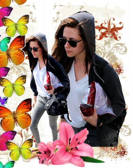 Dimanche 31 Juillet 2011 : Kristen à l'aéroport de Londres.