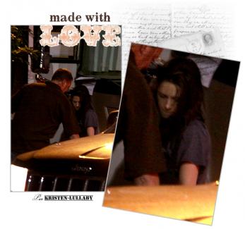 """Jeudi 7 Juillet 2011 : Kristen à Toronto (Canada) sur le set de """"Cosmopolis""""(nouveau film de rob)."""