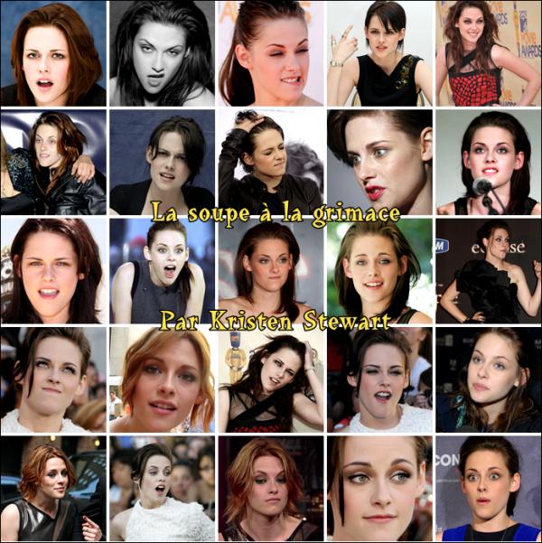 """J'adore Kristen mais c'est aussi la reine de la grimace ! J'aurai pu vous mettre les photos ou je la trouve """"cute"""" mais je trouvais que ça changerai un peu de la montrer comme ça. Qu'en pensez vous ?"""