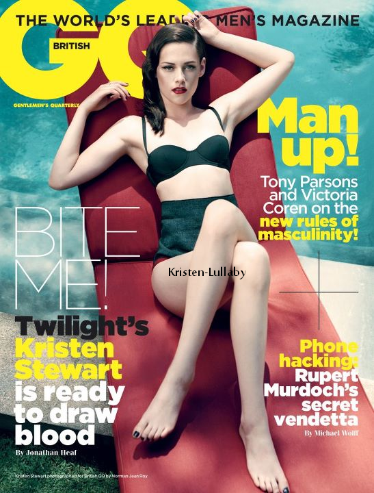 Kristen en couverture du GQ uk de novembre. + Interview