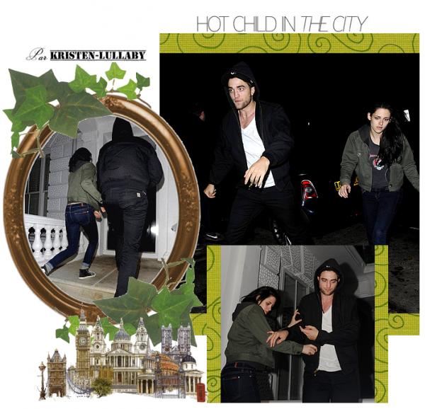 Mercredi 23 Novembre 2011: Rob et Kris vu ensemble à Londres. + Kristen sur le tournage de Blanche Neige (encore)