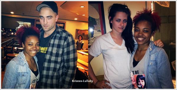 Lundi 6 Février 2012 : Une fan à croisé Kristen & Rob dans un resto à LA.