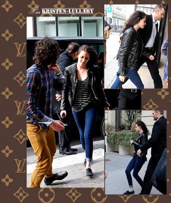 Lundi 5 Mars 2012 : Robsten en visite à la maison Louis Vuitton.