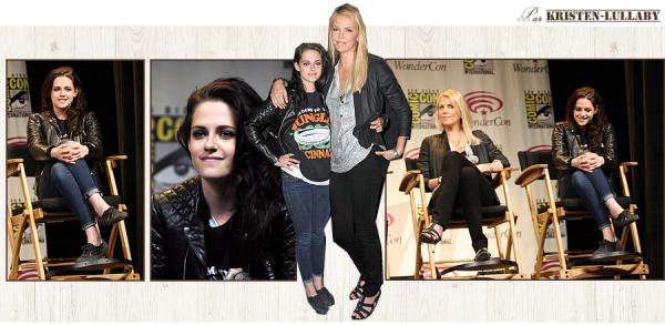 Samedi 17 Mars 2012 : Kristen, Charlize Theron et Rupert Sanders à la WonderCon à Los Angeles.