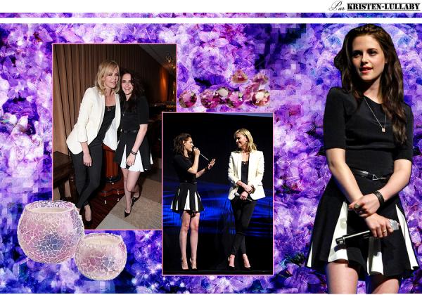 Jeudi 26 Avril 2012 : Kristen & Charlize étaient présentes à la Cinemacon à Las Vegas.