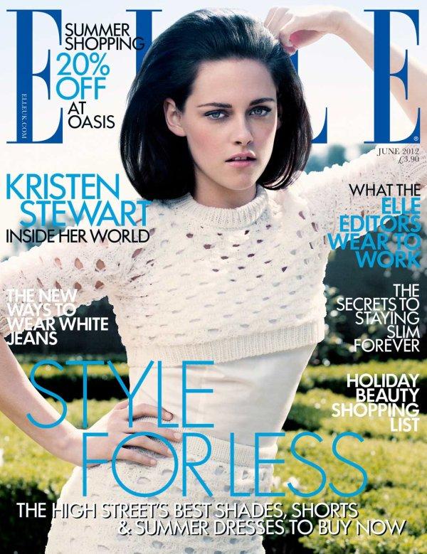 Kristen fait la couverture du magazine Elle (Uk) de Juin 2012.