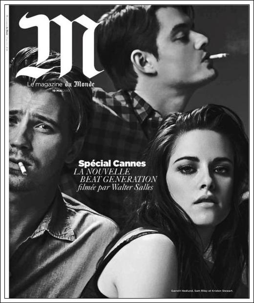 Kristen , Sam Riley & Garett Hedlund font la couverture du magazine du Monde.